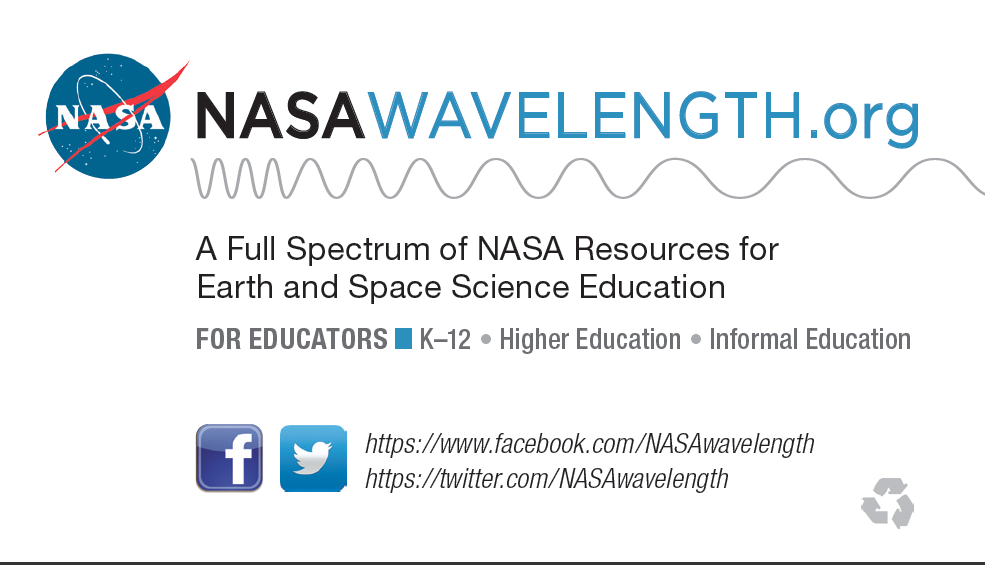 Smd education nasa wavelength presentation resources nasa wavelength business card colourmoves